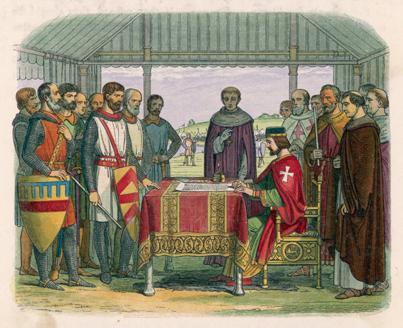 The signing of the Magna Charta