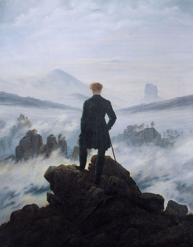Wanderer Above a Sea of Fog, Caspar David Friedrich - Wikimedia.org