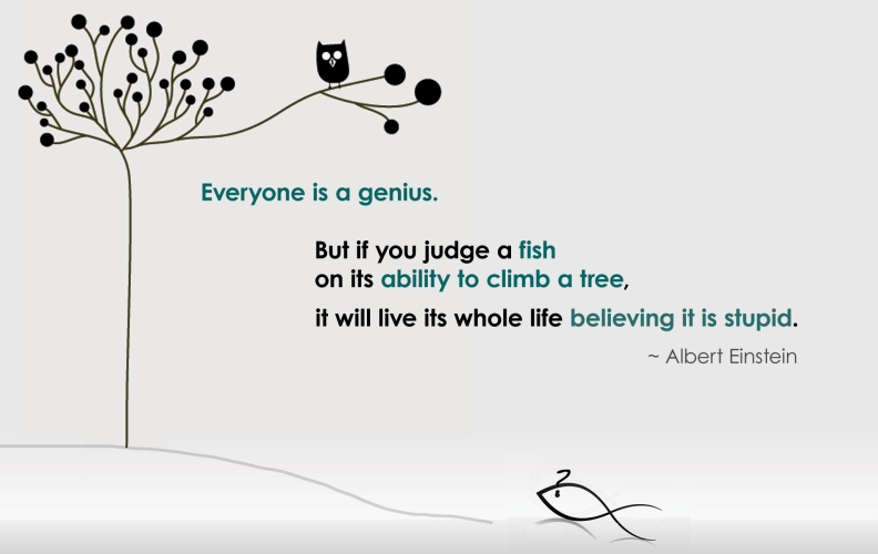 Einstein Quote Fish Climbing Tree Everyone Is A Genius""