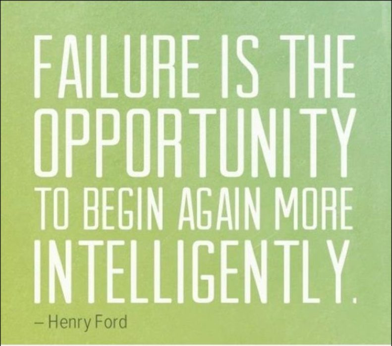 Failure as an opportunity