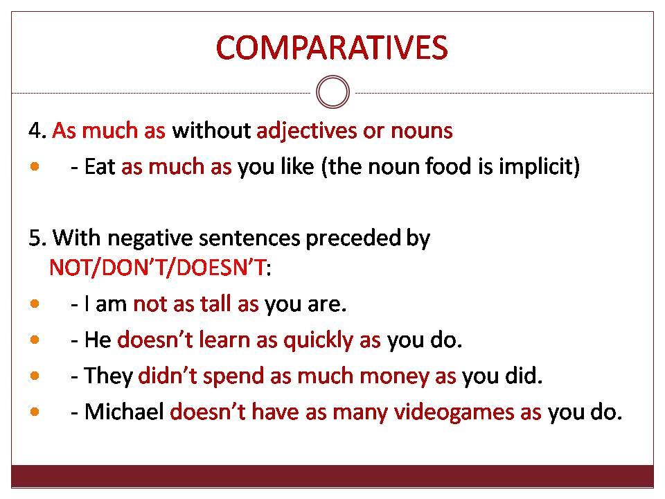 Comparatives - comparing equals_2